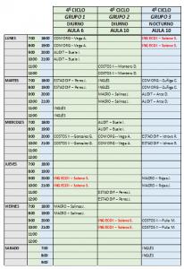 horario ing econ I 46