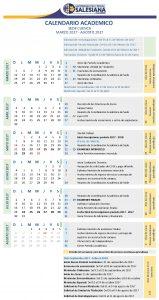 50. Calendario actividades MAR2017- AGOS2017_26ENE2017